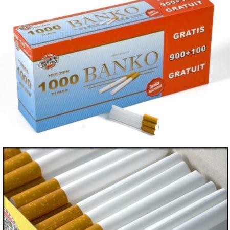 1000 tubes a cigarette banko