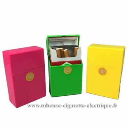 boite a cigarette push fluo
