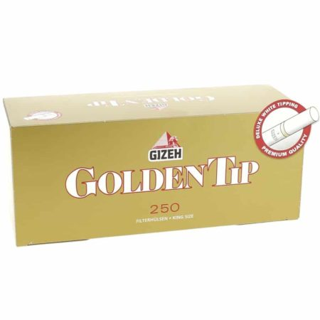tube cigarette gizeh golden tip