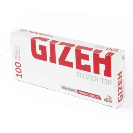 tube cigarette gizeh silver tip