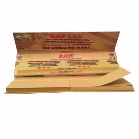 Paquet feuilles raw slim avec carton
