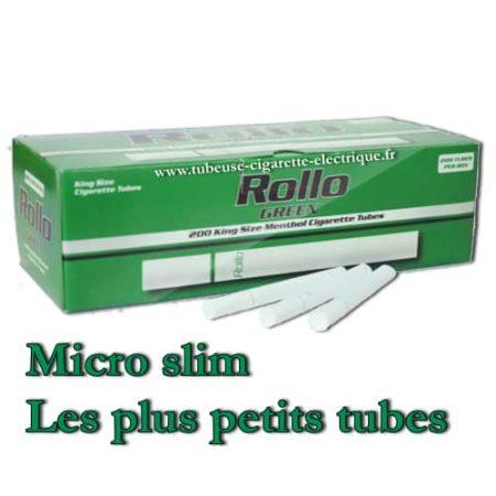 tubes cigarettes micro slim menthol