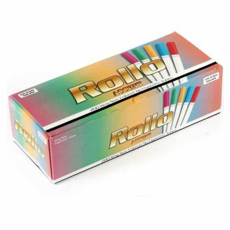 tubes cigarettes rollo filtre colore