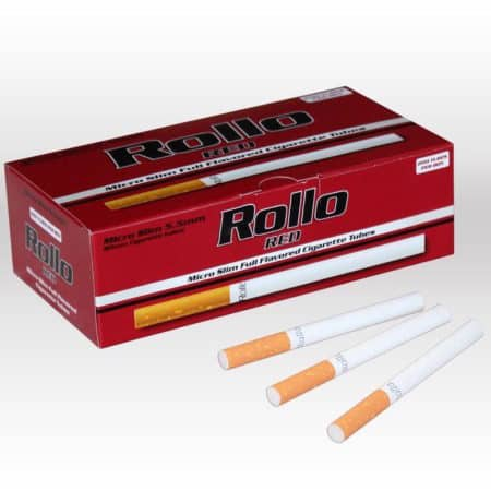 Tube a cigarette micro slim rollo rouge