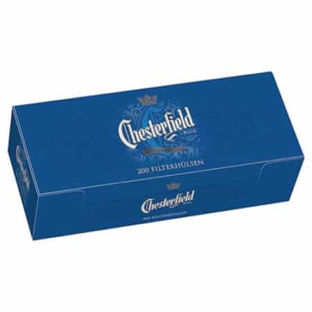 tubes cigarettes chesterfield bleu