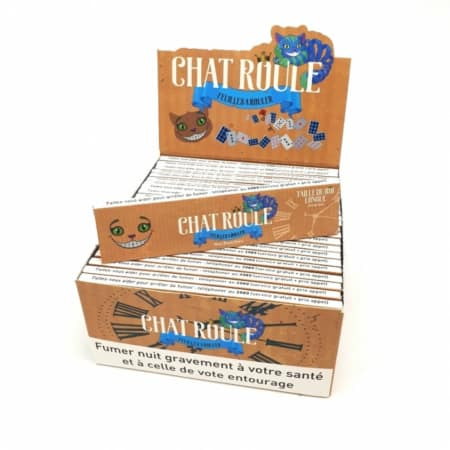 feuille chat roule slim non blanchi brown